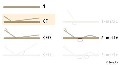 Selecta FR5 KF Flachrahmen Lattenrost mit Kopf- und Fußverstellung 100x200