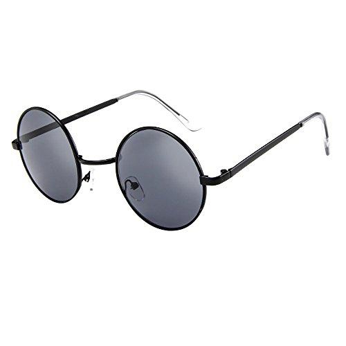 FRAUIT Damen Vintage Brille Unisex Fahren Runde Sonnenbrille Eyewear Runde Retro Polaroid Sonnenbrille die polarisierte Brille Männer Steampunk fährt