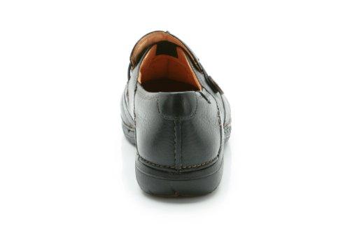 Clarks Women's Slip-On Flats Shoes Un Loop Black Leather