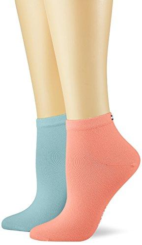 Tommy Hilfiger Damen TH Women Casual Short Sock 2P, 2er Pack, Mehrfarbig (Coral Combo 626), 39/42