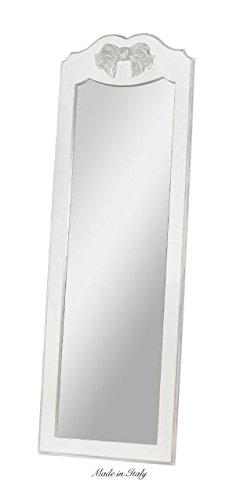 Specchiera da appoggio di legno con fiocco centrale stile vintage disponibile in diverse rifiniture L'ARTE DI NACCHI SP.129/SH