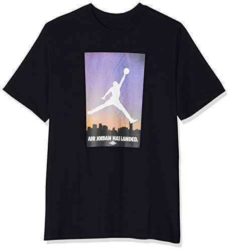 Nike Herren AIR Jordan 23 Tee T-Shirt, Black/Half Blue, XL -