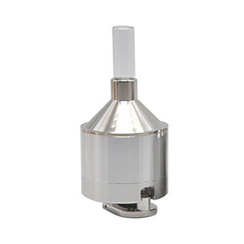 Trichter Für Pulver (BESTOMZ Pulver Grinder Metallhandgewürz Schleifer mit Glasflasche)
