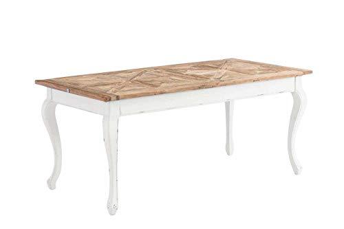 CLP Esszimmertisch Aurelius aus Holz I Handgefertigter Holztisch im Landhausstil I In verschiedenen Größen erhältlich 200 x 100 x 78 cm -