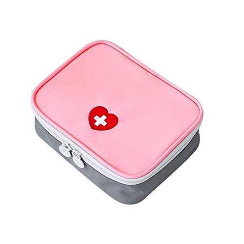 TiooDre Tragbare Mini-Erste-Hilfe-Tasche Startseite Emergency Kit Medizin Aufbewahrungstasche f¨¹r Outdoor-Aktivit?ten Reisen Camping Wandern (Leer, Tasche Only) Rosa