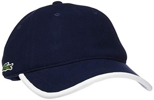 Lacoste Herren Rk3892 Schirmmütze, Blau (Marine/Blanc-Calanque 9jg), One Size (Herstellergröße: TU)