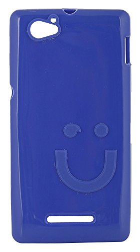 iCandy™ Imported Quality Soft TPU Smiley Back Cover for Sony Xperia M C1905 - Blue