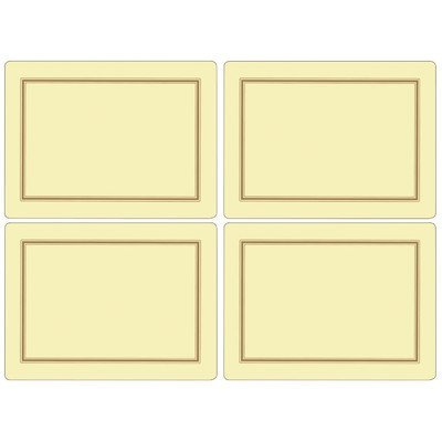 Pimpernel Classic Cream Placemats - Set of 4 by Pimpernel Pimpernel Classic Cream