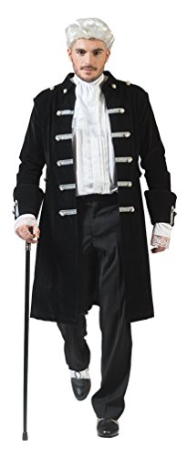 Karneval Klamotten Barock Kostüm Herren Renaissance Kostüm Herren Rokoko Herren-Kostüm schwarz...
