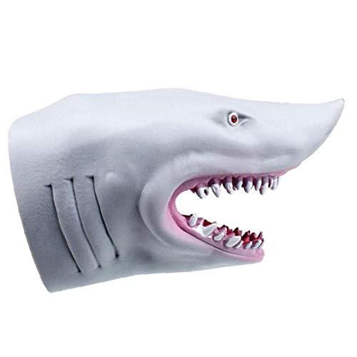 Bontand Shark Handpuppe Ehrfürchtig Realistische Jaws Gummihandschuh Puppet Stuff für Kinder Story Time-Kuchen-Deckel-DIY Dekoration Tub Cos Spielen Prop Spielzeug (Gray) (Kuchen Story Dekorationen Toy)