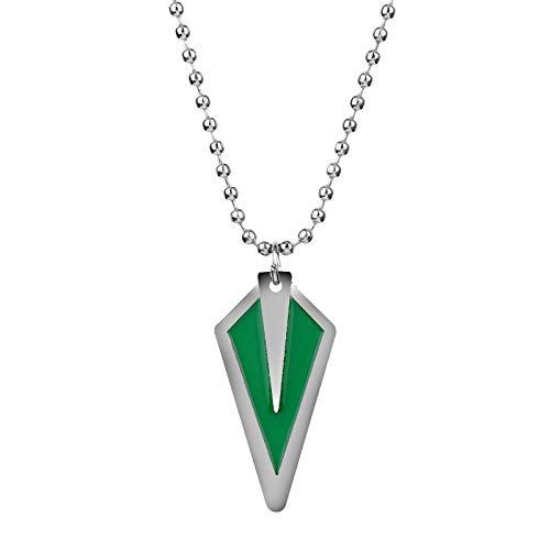 Fashion Movie Jewelry 1pc Men Es Alloy Green Arrow Hales Pendant Long Chain Halskette Accessoires (Green Arrow Kostüm Design)
