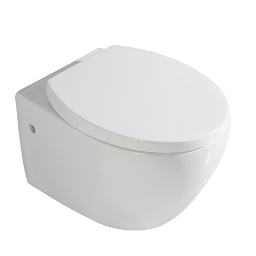 Gimify Toiletten Hänge WC Keramik WC-Sitz mit Soft-Close (Oval) (Soft-wc-sitz Oval)