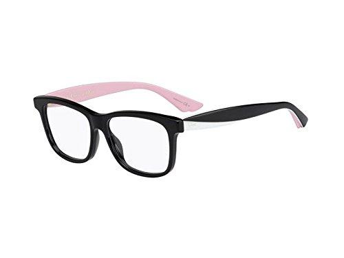 Dior Brillen Für Frau CD3290 LWR, Black / White / Pink Kunststoffgestell, 52mm