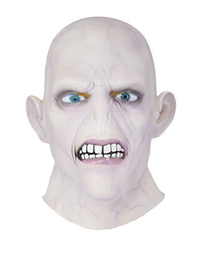 DealTrade Voldemort Helm Halloween Erwachsene Vollkopf Latex Maske Cosplay Kostüm Verkleiden Costume Masquerade Party Merchandise Zubehör