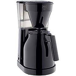 Melitta 6762891 Cafetière Filtre avec Verseuse Isotherme, Easy Therm II, 1023-06, Noir