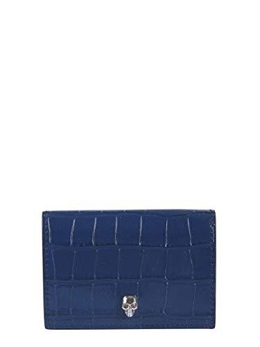Alexander McQueen Luxury Fashion Donna 5709141JM0I4015 Blu Portafoglio | Autunno Inverno 19