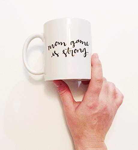 Mutter Spiel ist stark zu Hause bleiben Mutter Mutter SAHM Damen Frauen Kaffeetasse Drink Cup Geschenk Schwangerschaft Schwangere Babyparty