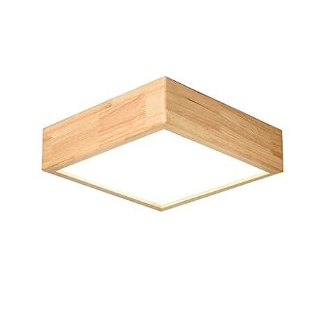 JIAHONG Europäische Massivholz geometrische Deckenleuchte moderne Schlafzimmer Bettdecke romantische Wohnzimmer Beleuchtung dekorative LED-Deckenleuchte ( Color : White light )