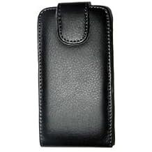PCMOVILES --Funda DE Piel Para Sony Xperia S LT26I Negra + 2 protectores de pantalla