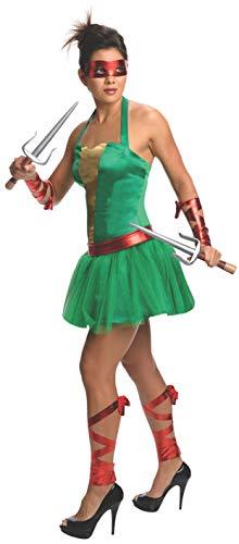 Raphael Kostüm Ninja Turtles Frauen (Kostüm Turtle Ninja Frauen,)