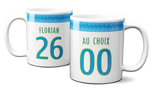 Idcase MUG Tasse en céramique café - Made in France -Personnalisable avec NOM et Numero aux Choix - Livraison Express Foot Marseille