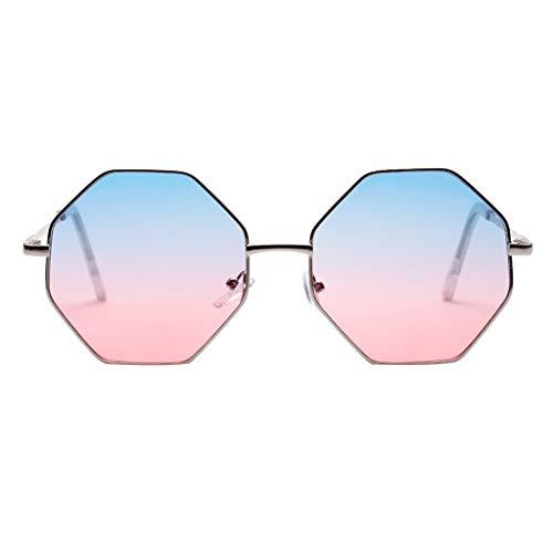 Sonnenbrille Damen Retro,WQIANGHZI Metallgestell Sunglasses Elegante Diamant Nerdbrille Mode Matte Pilotenbrille,Katzenauge Partybrillen Spaß Spass Brille im Steampunk Stil