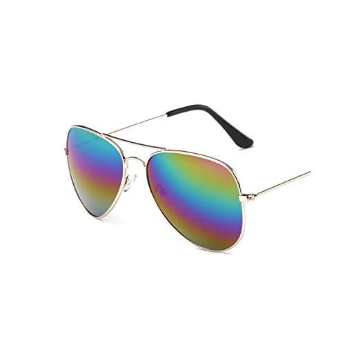 Vikimen Sportbrillen, Angeln Golfbrille,Vintage Pilot Sunglasses Women Shades Retro Classic Black Sun Glasses Female Luxury Brand Designer Oculos Gold Multicolored