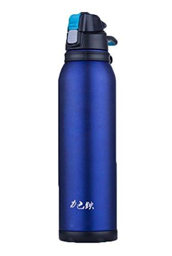 Doppelwandiger vakuumisolierter Travel Kaffee Tasse, Edelstahl Sport Wasser Flasche königsblau