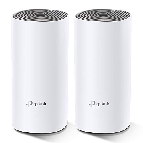 TP-Link Deco E4 Whole Home Mesh Wi-Fi System, Seamless and Speedy (AC1200) for Medium Home, Work with Amazon Echo/Alexa and IFTTT, Router and Wi-Fi Booster Replacement, Parent Control, Pack of 2