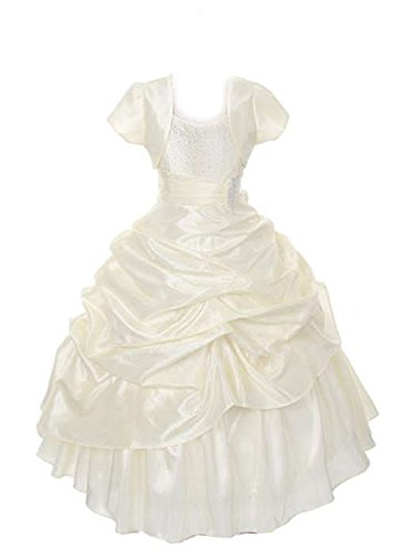 Sofyana Baby Girls Dupion Silk Princess Gown Birthday Party Wear