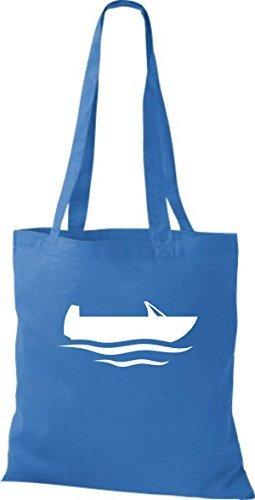 JUTA Borsa di stoffa barca da pesca, Stivale, CAPITANO Blu reale