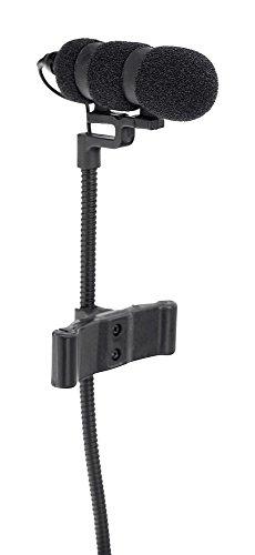 Pronomic SET MCM-100B Clipmikrofon mit Halter (Kondensator Mikrofon, Schwanenhals, Halter für Kontrabass, Phantomspeisung, XLR Adapter, Case) schwarz