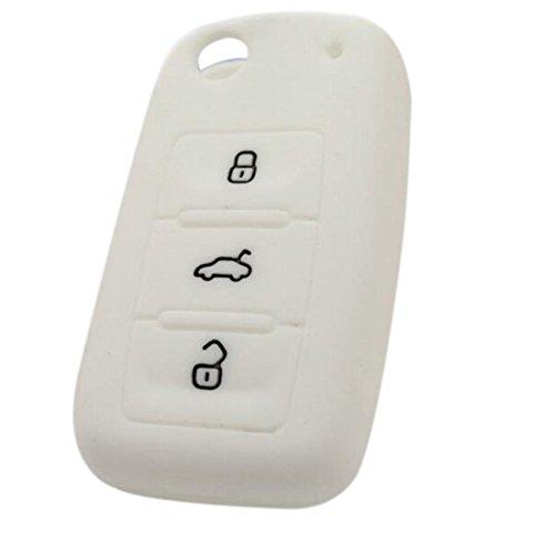 Sac à clés ensemble en silicone couleurs de bonbons pour Volkswagen voiture-Blanc