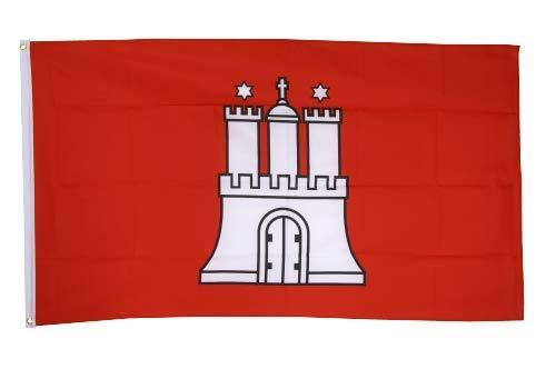 Flaggenfritze® Fahne Flagge Hamburg 60 x 90 cm Premiumqualität -