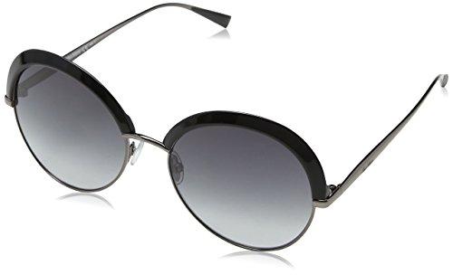 Max mara mm ilde ii 9o u2q, occhiali da sole donna, nero (blk dkruthen/brown), 57