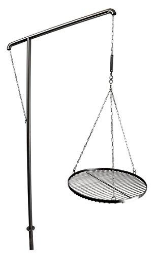 Grillgalgen aus Edelstahl V2A - Höhe 2,3m - Gartengrill / BBQ / Schwenkgrill