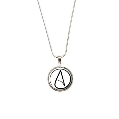 UNIVERSUM Atheist Symbol Anhänger mit Sterling Silber vergoldet Kette