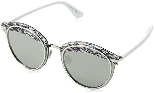 Dior Damen DIOROFFSET1 0T W6Q Sonnenbrille, Pink (Pkwhtgrnred/Grey Silver Ar), 62