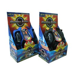 Flashing Wheels, Funrollers , größenverstellbar, sortierte Farben, 1 Paar