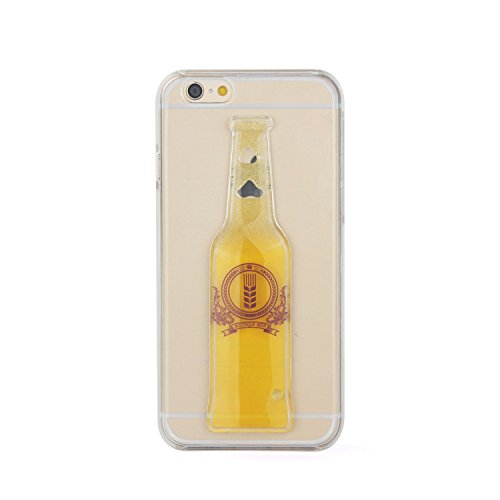 Tailcas® Cover per iPhone 5 /5S, 3D Creative Design Ultra Slim Liquido Liquid Bottiglie di (Bottiglia Bank)