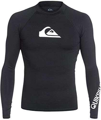 Quiksilver All Time Lycra Manches Longues UPF 50 Homme, Black, FR : M (Taille Fabricant : M)