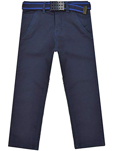 BEZLIT Kinder Jungen Chino-Hose Thermo-Jeans Freizeit-Hose Winterhose Gefüttert 22904 Blau 128
