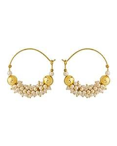 Voylla Metal Hoop Earring For Women (Gold)