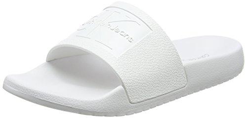Calvin Klein Jeans Damen Christie Jelly Peeptoe Ballerinas, Weiß (WHT 000), 38 - Jelly-schuhe Frauen