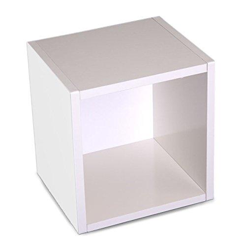 Mendler Modul-Würfelregal Standregal M73, 33x34x29 cm ~ weiß, drehbar