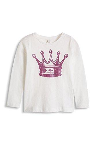 ESPRIT Mädchen, T-Shirt, 115EE7K001 Crown TS, GR. 128 (Herstellergröße:128+), Elfenbein (off-white)