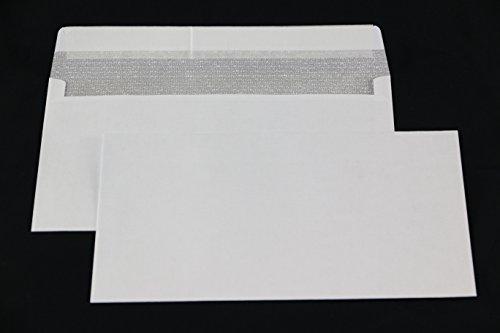 100 Stück Kompaktbrief Briefumschläge weiß Haftklebung 125x235 mm HK ohne Fenster