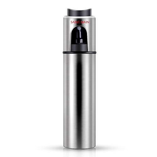 Acciaio INOX Olio aceto spruzzatore bottiglia, Saint-Main Portable olive oil Sprayer dispenser per Pasta, Insalata, Padella, Griglia, Barbecue (con 2 spazzole gratis) NUOVO TIPO