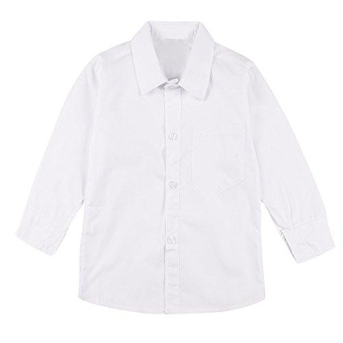 Freebily Camisa Blanca Escolar Niños Chicos 2-20