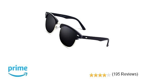 CGID MJ56 Lunettes de soleil Demi-cerclées écailles Demi Monture Inspirées  Premium avec Rivets Métalliques pour Femme Homme UV400  Amazon.fr   Vêtements et ... f10ec39effc4